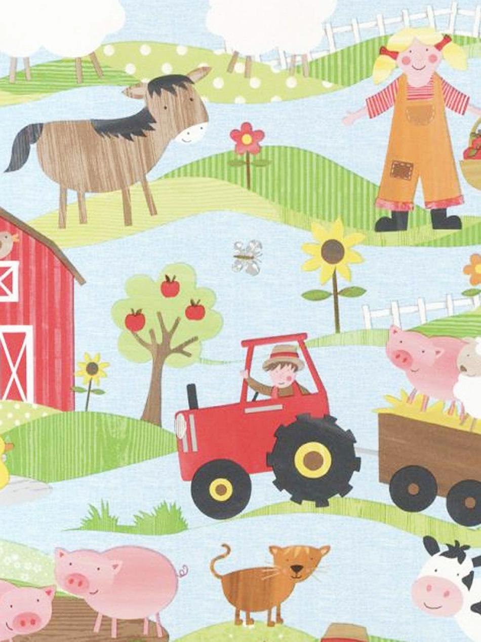 Kindertapeten Mit Traktor : Die farbenfrohe helle Tapete ist kinderleicht zu verarbeiten und sieht