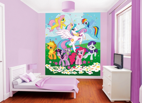 walltastic fototapete kinderzimmer my little pony inklusive tapetenleim www 4. Black Bedroom Furniture Sets. Home Design Ideas