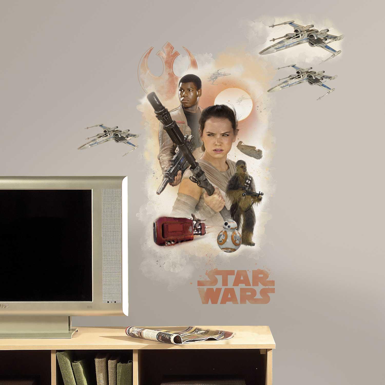 wandsticker erwachen der macht helden star wars. Black Bedroom Furniture Sets. Home Design Ideas