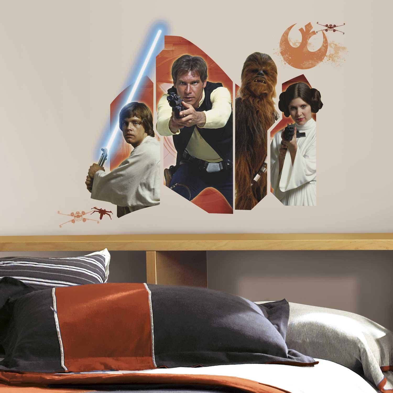 wandsticker star wars eine neue hoffnung helden star wars. Black Bedroom Furniture Sets. Home Design Ideas
