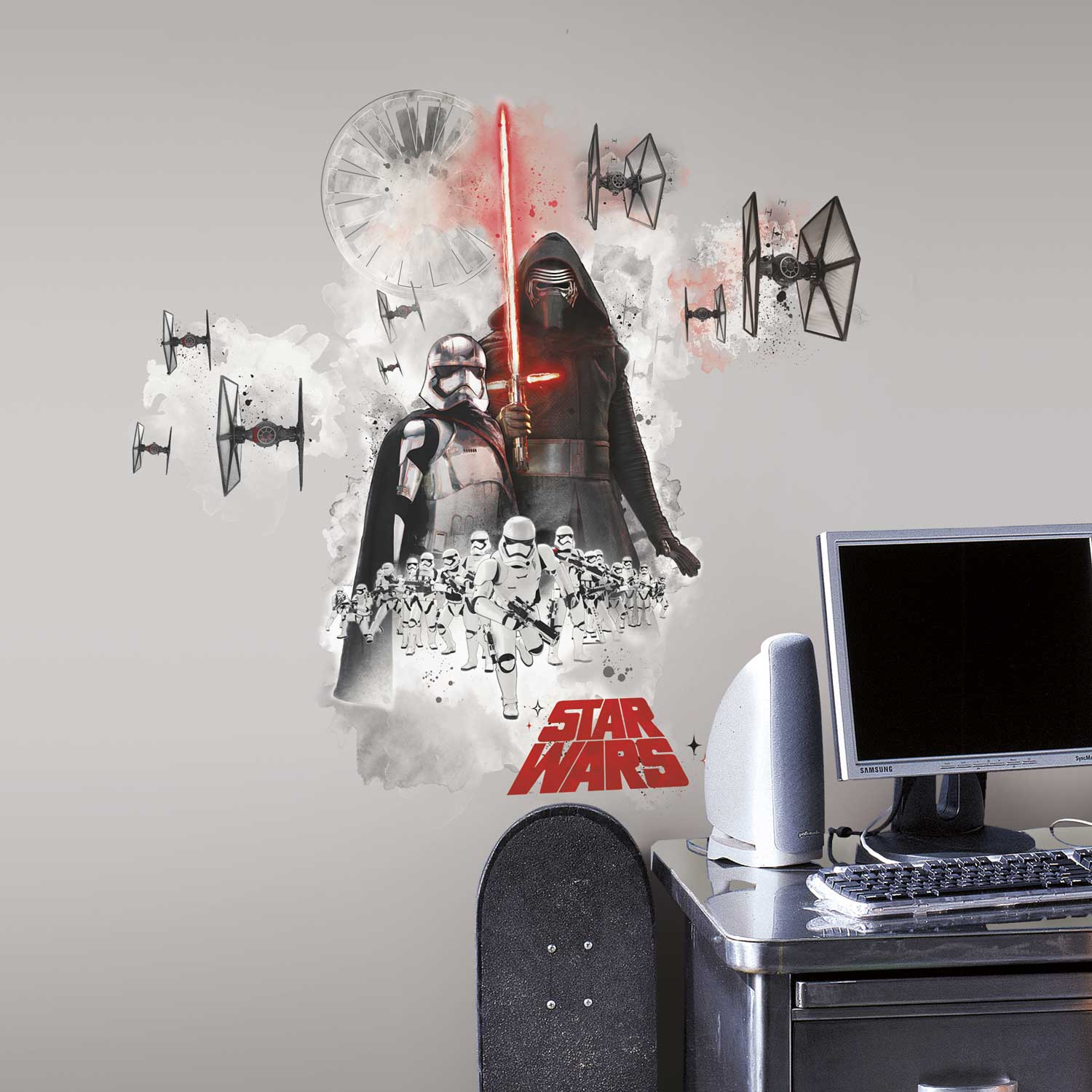 wandsticker star wars dunkle seite der macht wandtattoo. Black Bedroom Furniture Sets. Home Design Ideas