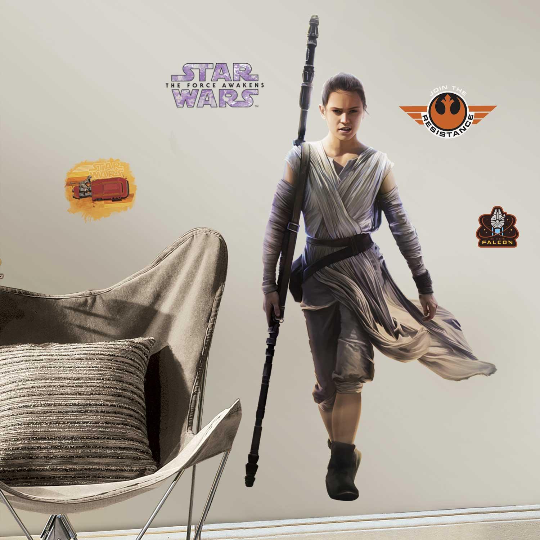 wandsticker star wars erwachen der macht rey star wars. Black Bedroom Furniture Sets. Home Design Ideas