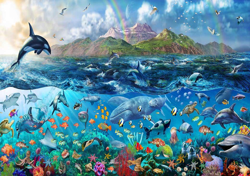 fototapete unterwasserwelt tropisches paradies fototapete 8 teile. Black Bedroom Furniture Sets. Home Design Ideas