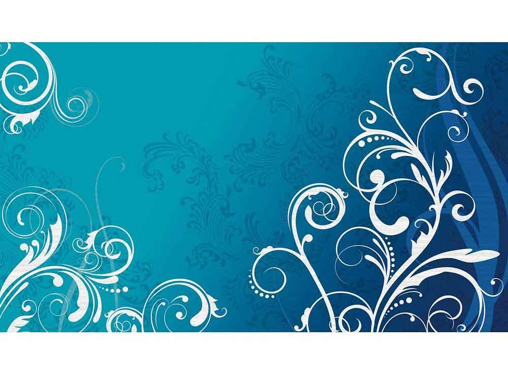Fototapete scroll blau wei riesen fototapete - Fototapete blau ...