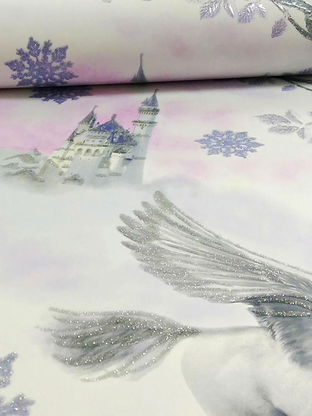 tapete einhorn pegasus glitter effekt schloss m dchen wandtapete arthouse edel ebay. Black Bedroom Furniture Sets. Home Design Ideas