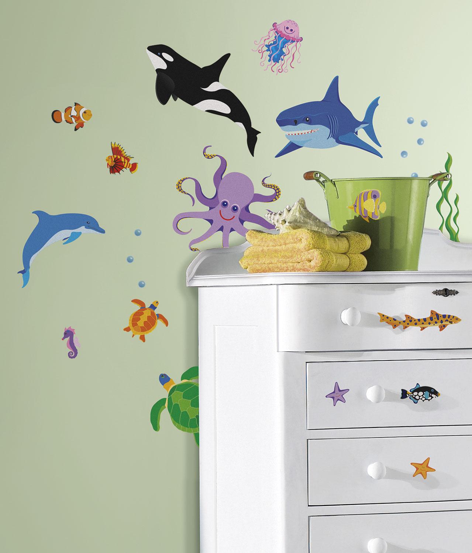 RoomMates Wandsticker Meer Tiere Unterwasser Fische Delfin Wal ...