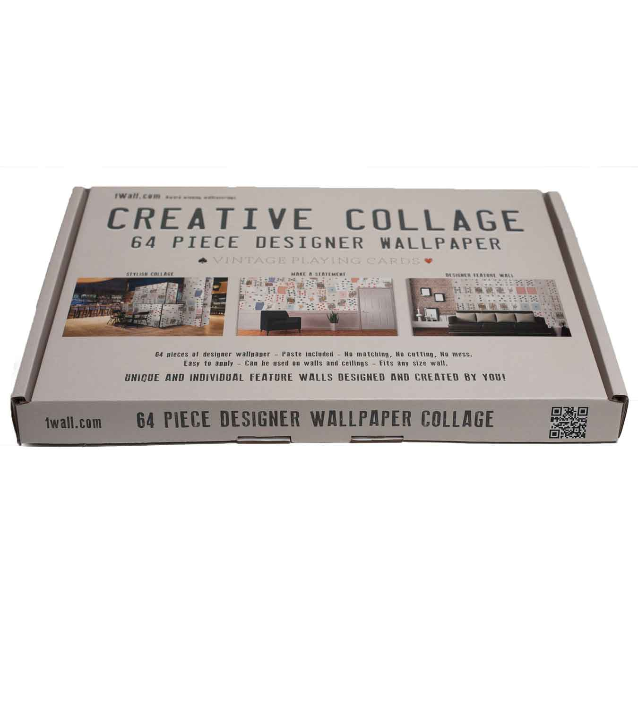 wanddekoration spielkarten designer tapete kreative collage. Black Bedroom Furniture Sets. Home Design Ideas