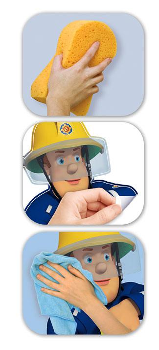 Wandsticker Feuerwehrmann Sam XXL-Walltastic Wandsticker