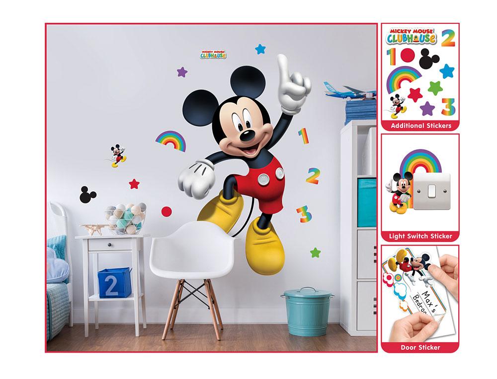 Wandsticker disney mickey mouse xxl walltastic wandsticker - Wandsticker mickey mouse ...