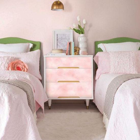 tapete selbstklebend rosa wolken design muster. Black Bedroom Furniture Sets. Home Design Ideas