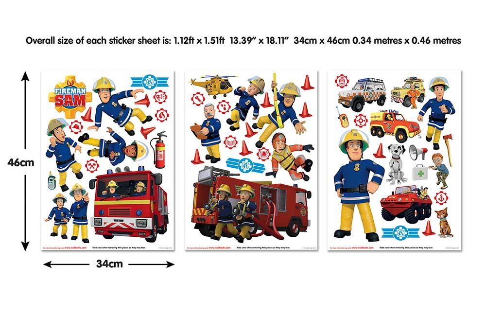 Wandsticker Feuerwehrmann Sam Rettungswache-Feuerwehrmann Sam