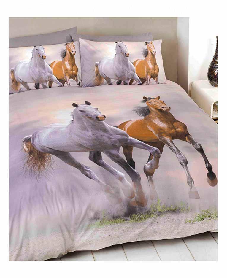 Bettwäsche Galoppierende Pferde Bettwäsche