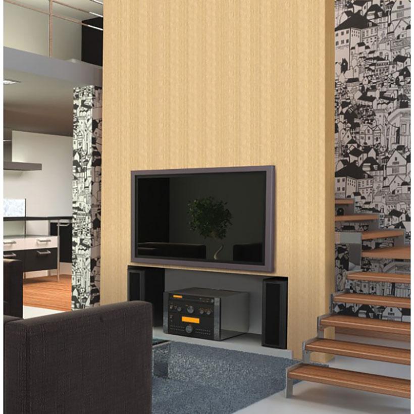 wandtapete dekofolie helle holzstruktur phonombel wohnzimmer - Tapete Wohnzimmer Hell