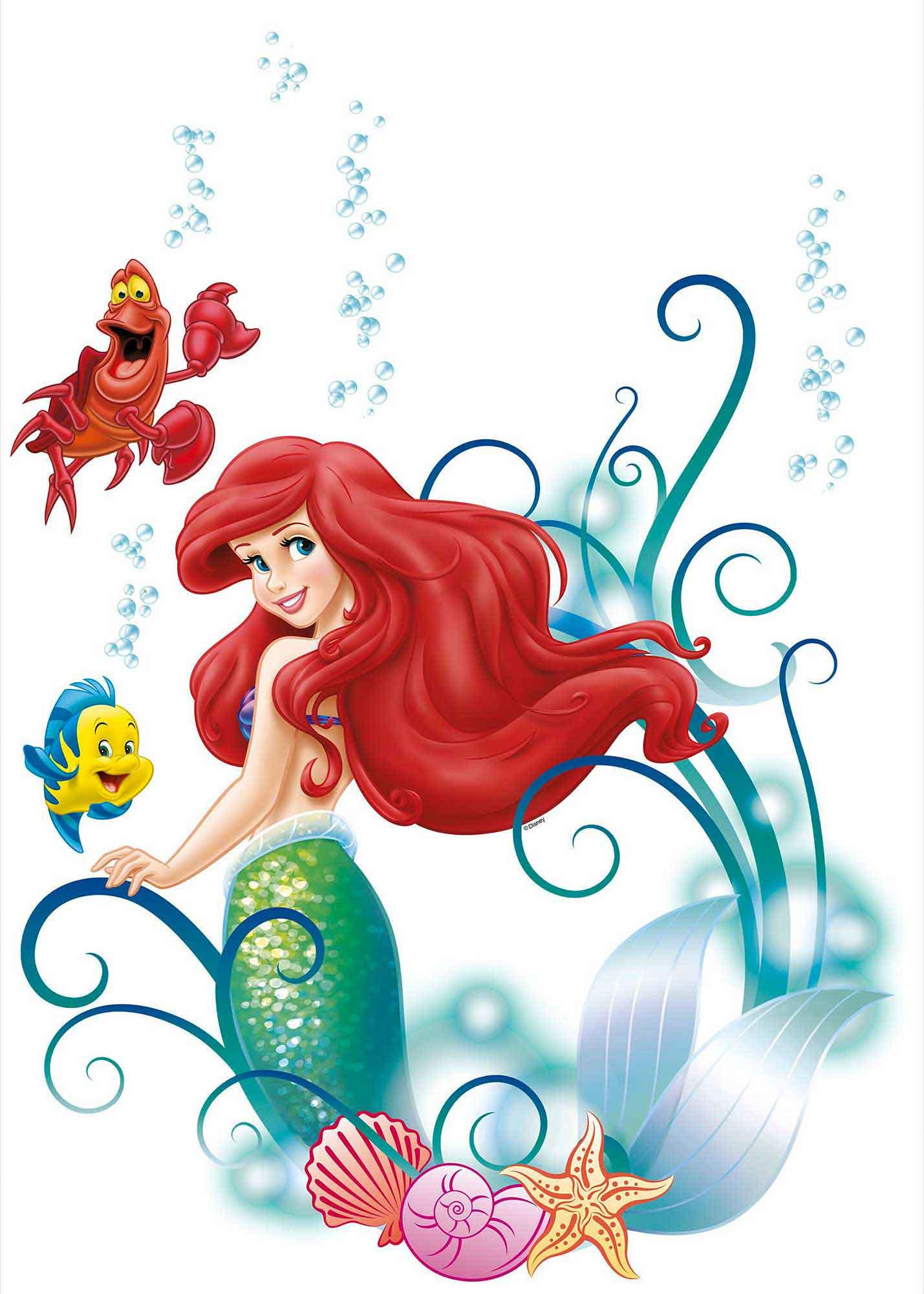 Wandsticker disney princess arielle disney princess - Wandsticker disney ...