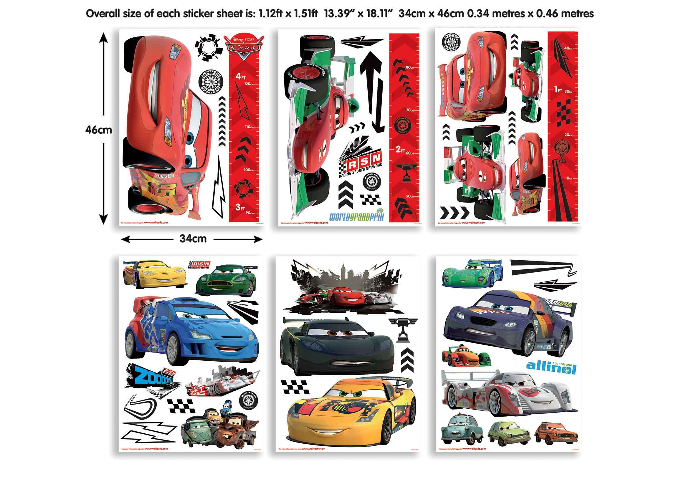 Walltastic Wandsticker Kinderzimmer Disney Pixar Cars Lightning ...