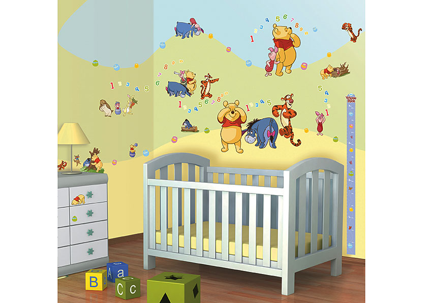 wandtattoo disney winnie the pooh walltastic wandsticker. Black Bedroom Furniture Sets. Home Design Ideas