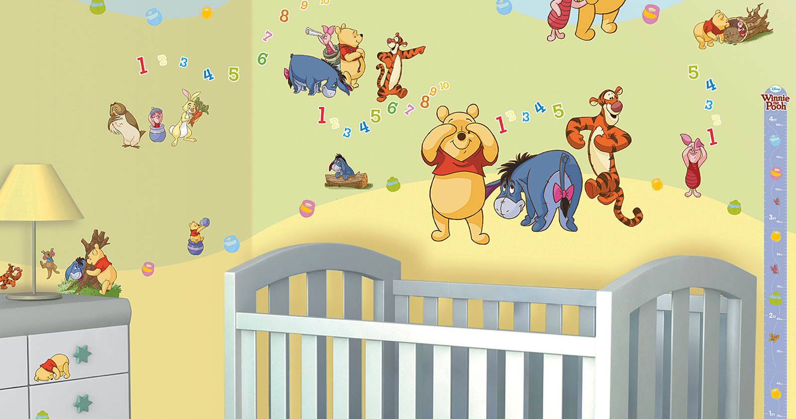 Kinderzimmer junge baby disney  Walltastic Wandsticker Kinderzimmer Disney Winnie the Pooh | www.4 ...