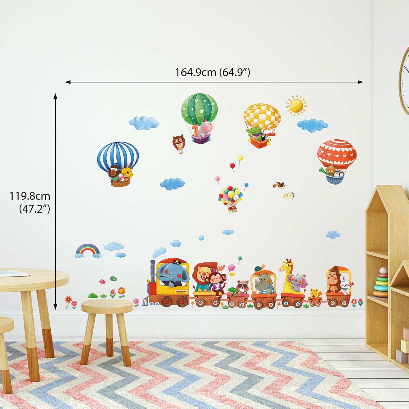 wandsticker reise der tiere wandsticker kinderzimmer. Black Bedroom Furniture Sets. Home Design Ideas
