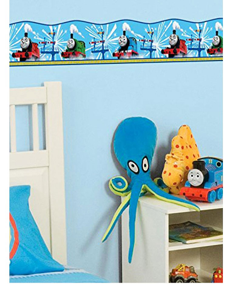 fun4walls kinderzimmer bord re lok thomas blau www 4. Black Bedroom Furniture Sets. Home Design Ideas