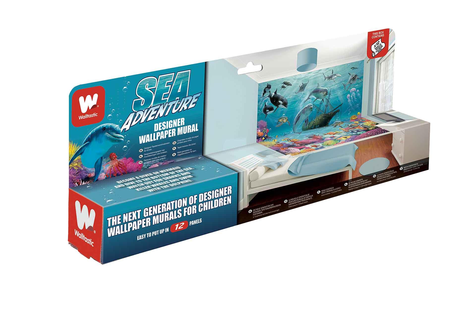 Fototapete Delfine Fische Unterwasserwelt-Walltastic Fototapete