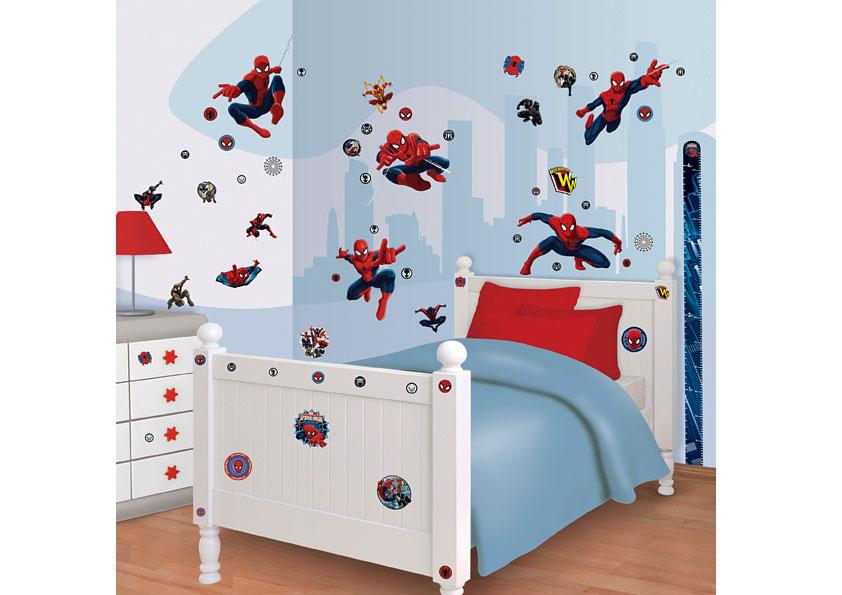 Wandsticker Kinderzimmer Ultimative Spiderman Walltastic Wandsticker -> Lampadario Cameretta Spiderman