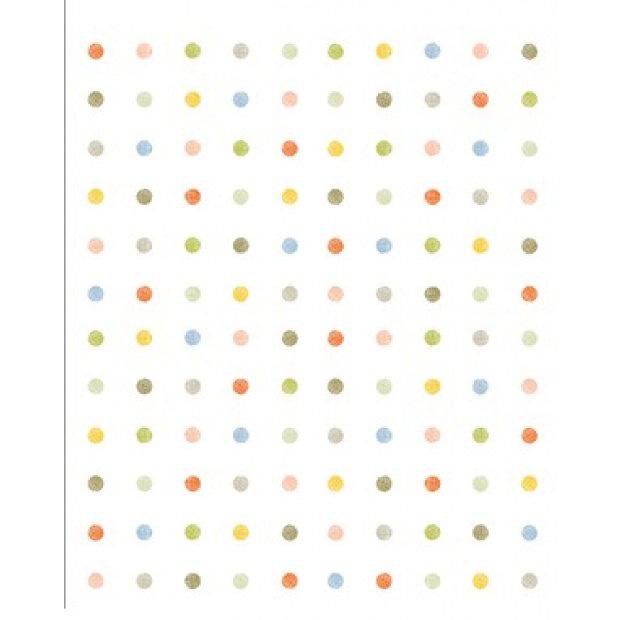 hyundae sheet tapete selbstklebend polka dot bunte punkte. Black Bedroom Furniture Sets. Home Design Ideas