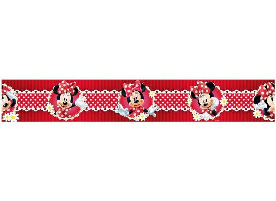 H a interiors bord re tapeten borte disney minnie mouse polka dot rot www 4 - Minnie mouse kinderzimmer ...