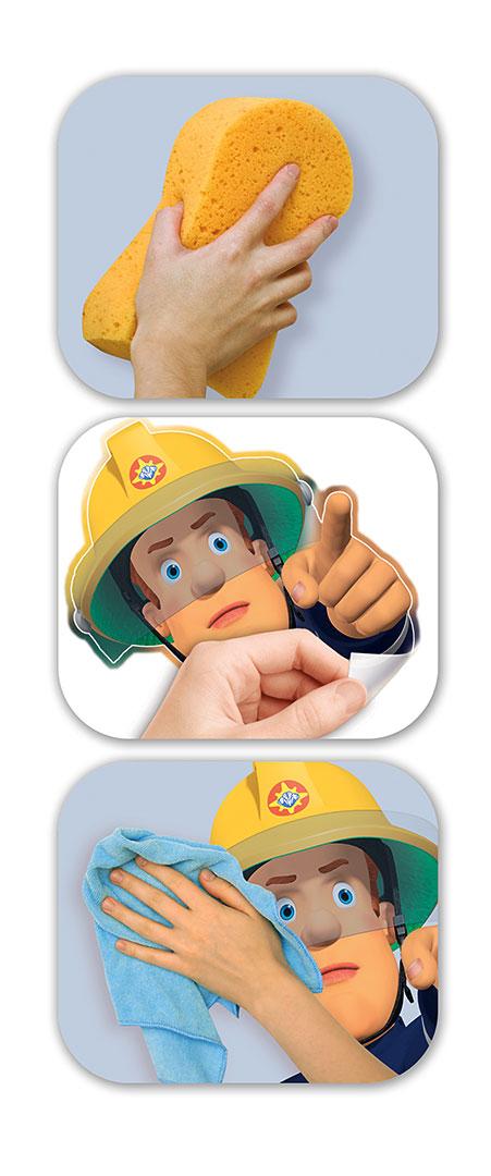 Wandsticker Kinderzimmer Feuerwehrmann Sam-Walltastic Wandsticker