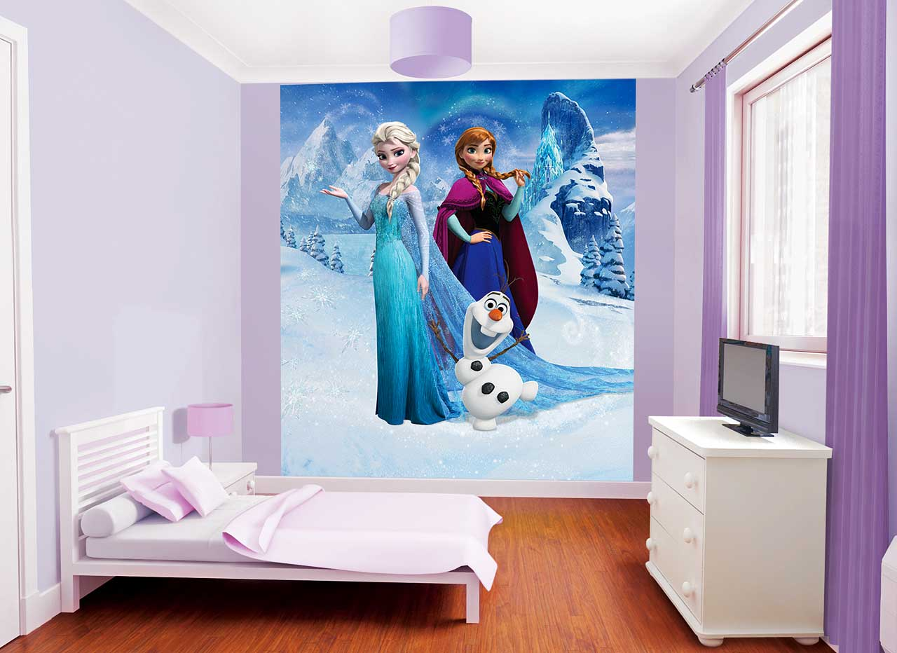 walltastic fototapete kinderzimmer disney frozen eisk nigin tapetenleim www 4. Black Bedroom Furniture Sets. Home Design Ideas