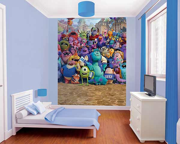 walltastic fototapete kinderzimmer disney monster. Black Bedroom Furniture Sets. Home Design Ideas