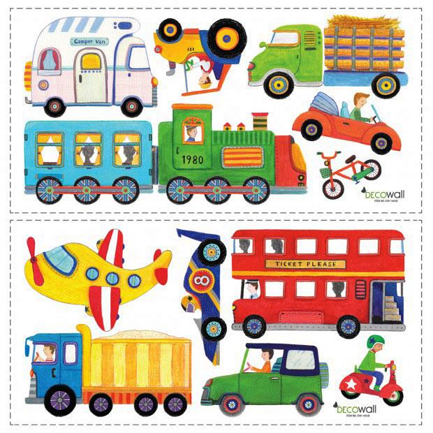 Tapeten Kinderzimmer Traktor : Flugzeug Eisenbahn Jungen Kinderzimmer Wandtattoo abl?sbar eBay