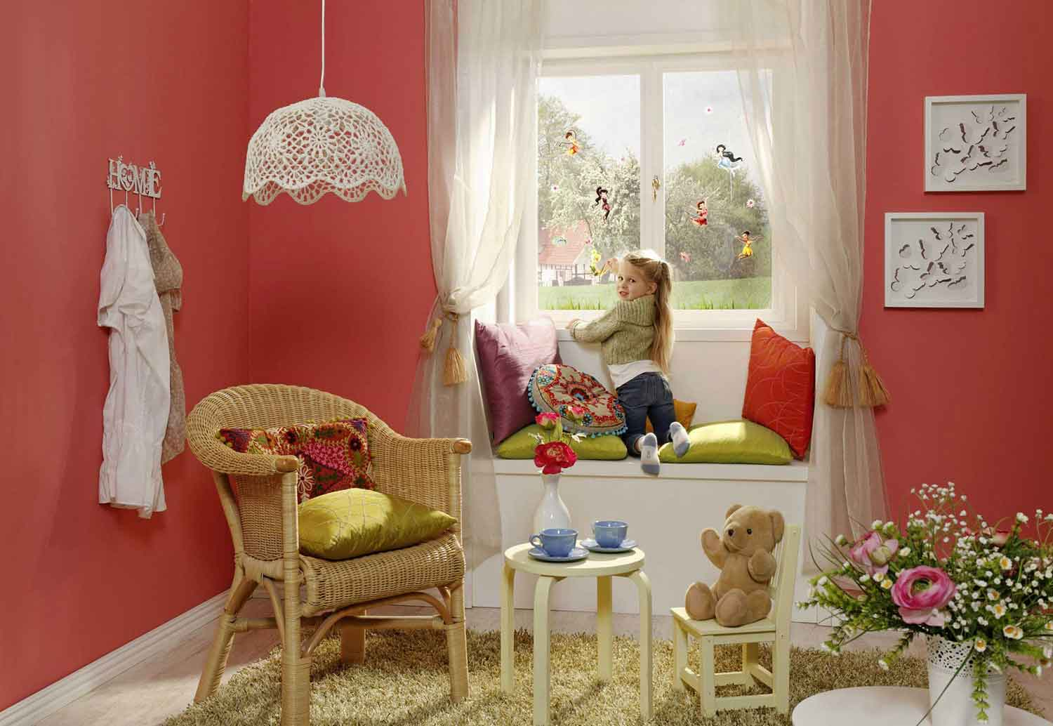 komar fensterbild disney fairies tinkerbell www 4. Black Bedroom Furniture Sets. Home Design Ideas