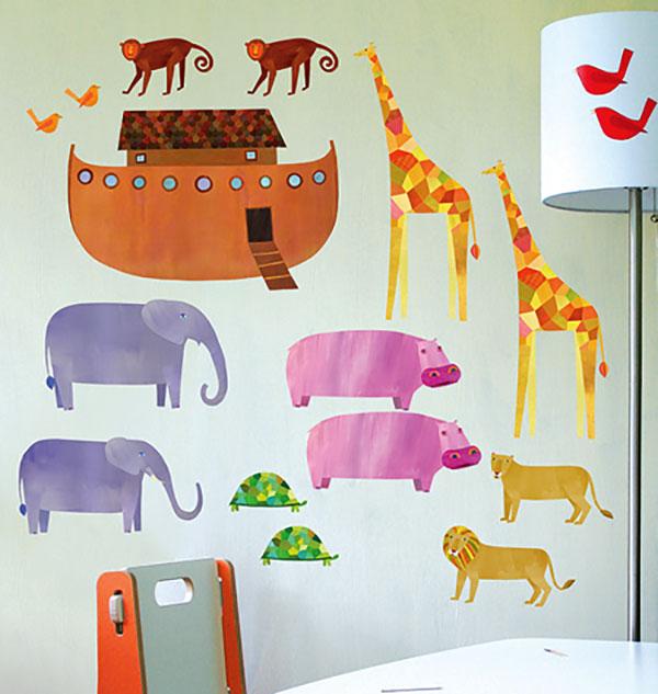 Wandsticker Wallplay Tiere Der Arche Noah Kinderzimmer