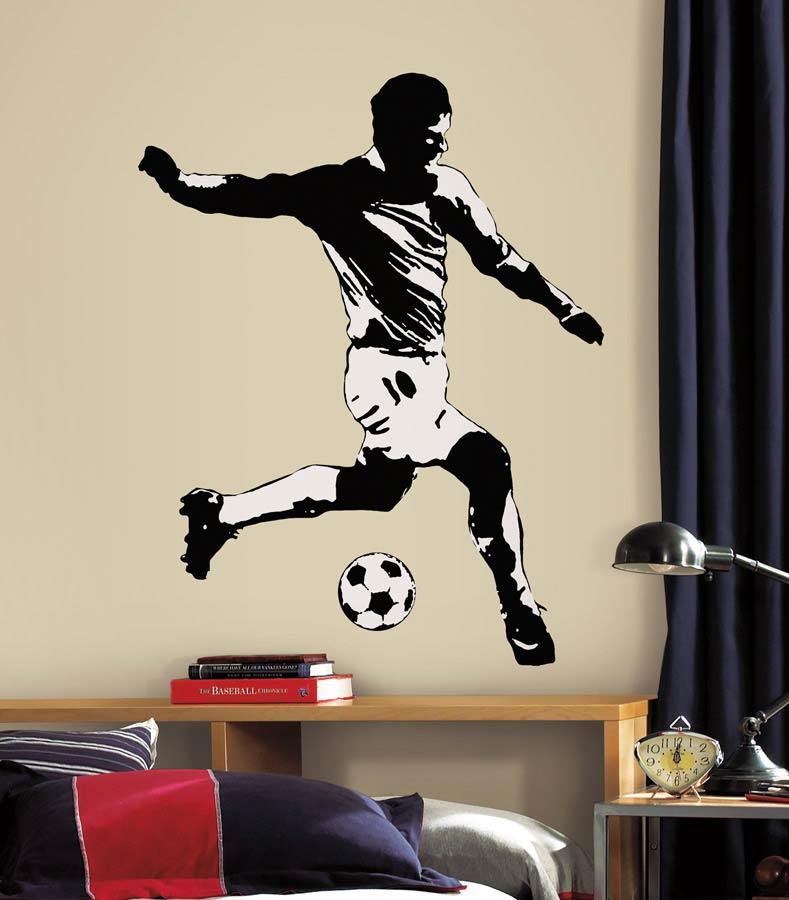 RoomMates Wandtattoo Wandsticker Fußballer Kinderzimmer ...