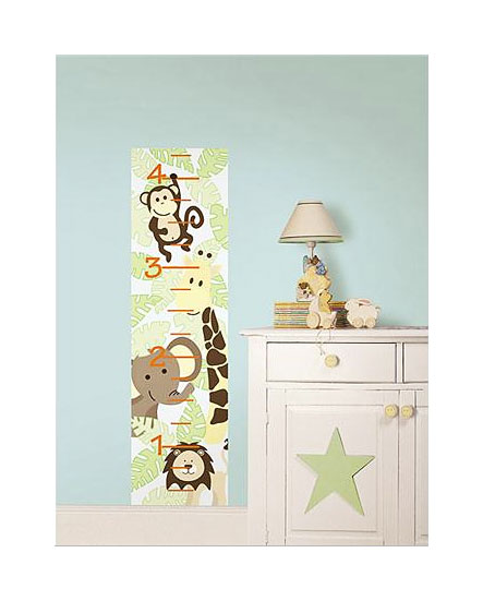 messlatte wandsticker wandtattoo safari dschungeltiere www 4. Black Bedroom Furniture Sets. Home Design Ideas