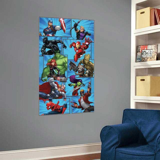 RoomMates Fototapete Marvel Superhelden Wandbild-Kinderzimmer