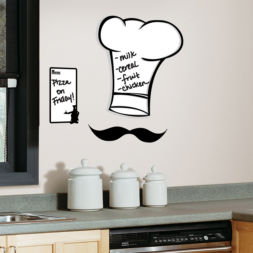 RoomMates Wandsticker Koch Speisekarte Memotafel-Küche