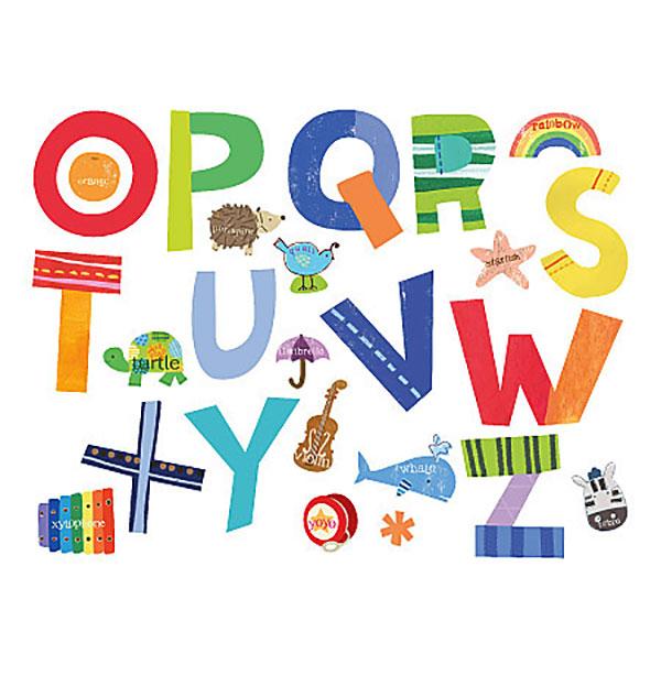 wandsticker wallies lustiges alphabetkinderzimmer