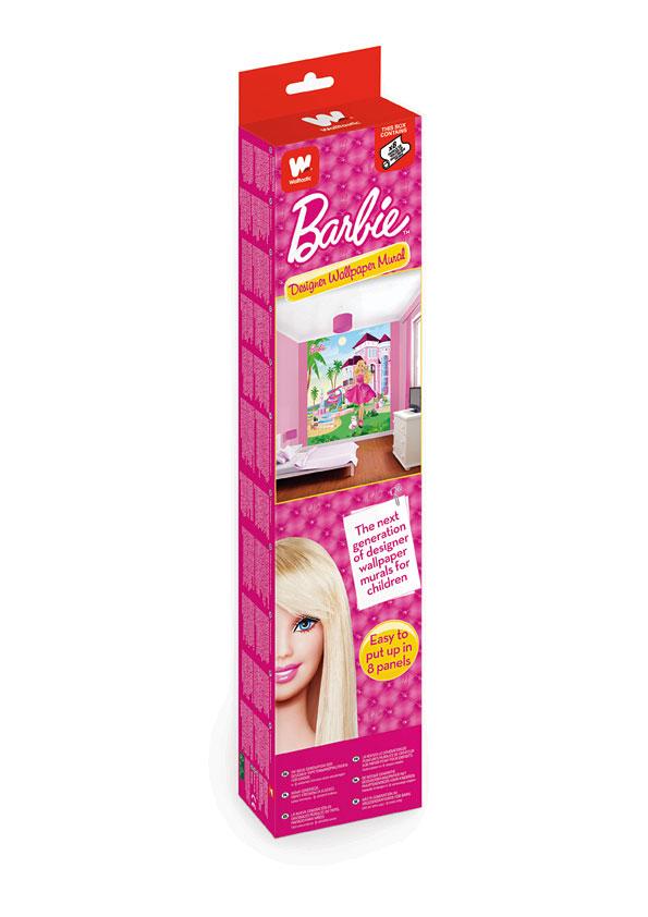 Fototapete barbie pink palast walltastic fototapete - Barbie kinderzimmer ...
