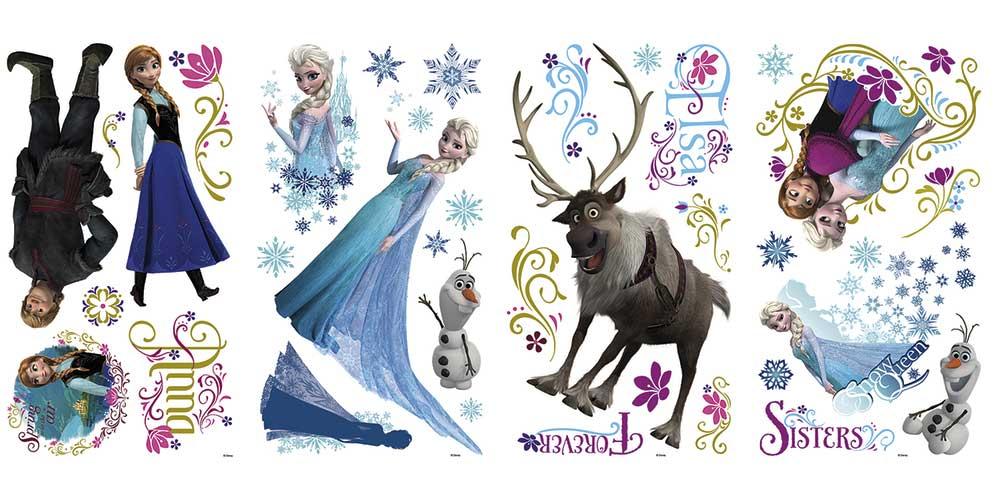 RoomMates Wandsticker Eiskönigin Schneeglitter-Disney Frozen