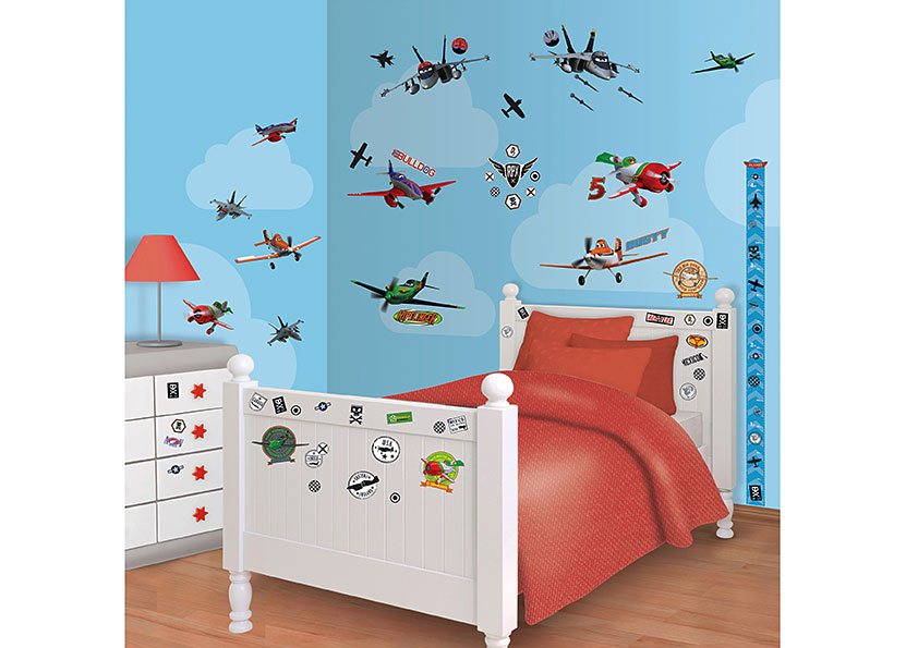 wandtatttoo disney planes flugzeuge walltastic wandsticker. Black Bedroom Furniture Sets. Home Design Ideas