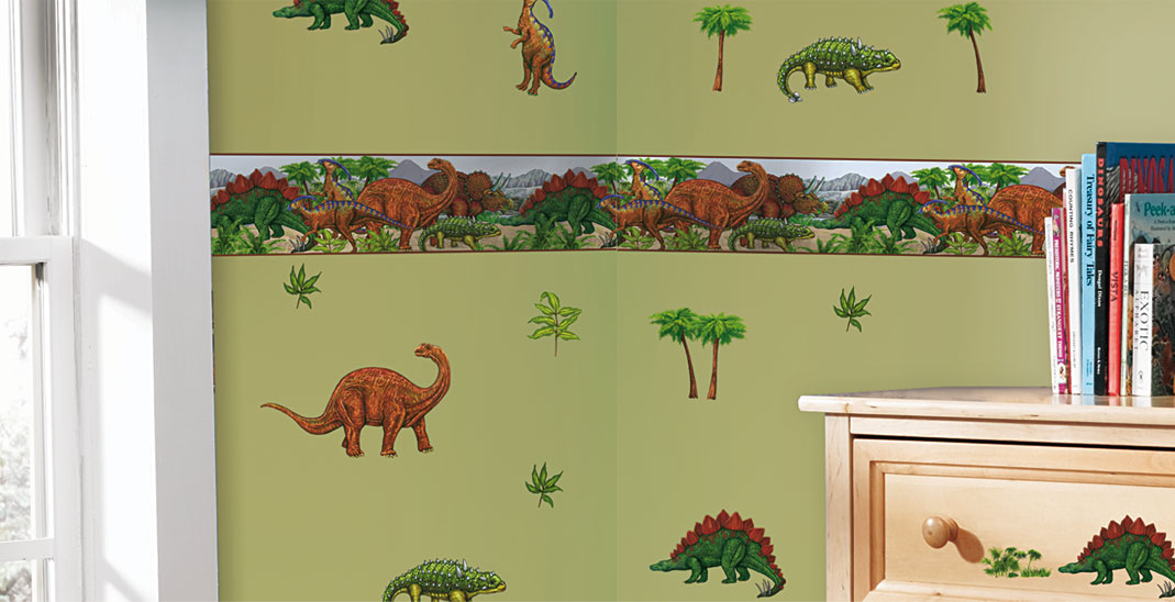 wandtattoo wandsticker kinderzimmer dinosaurier dino. Black Bedroom Furniture Sets. Home Design Ideas
