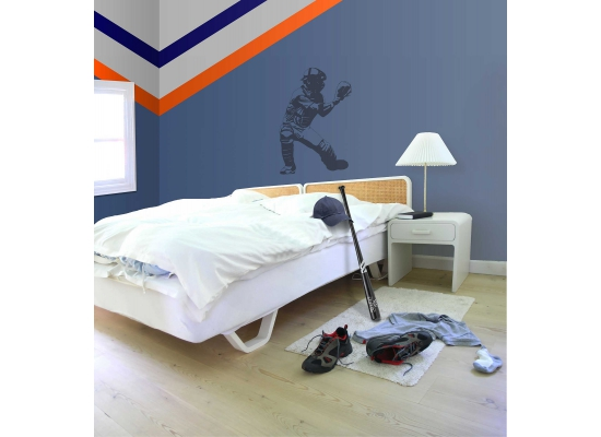 Borders Unlimited Riesen Wandbild Baseball Catcher Zimmer