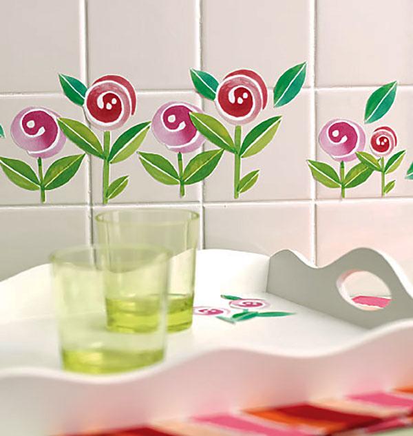 wandsticker lollipop blumen kinderzimmer. Black Bedroom Furniture Sets. Home Design Ideas