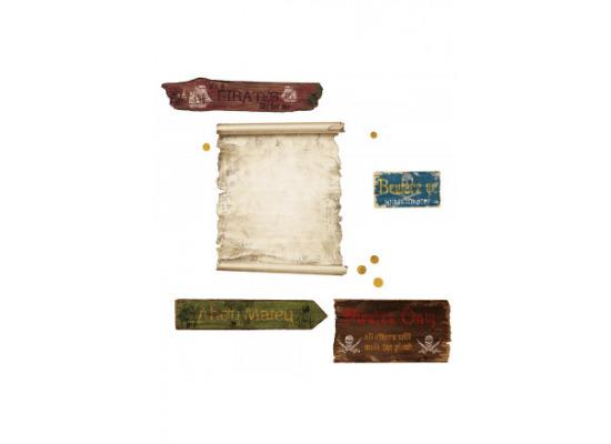 Faszinierend Wandtattoo Gold Sammlung Von Roommates Wandsticker Piraten Schatzkarte Schiffsplanke Dublonen Spielzimmer