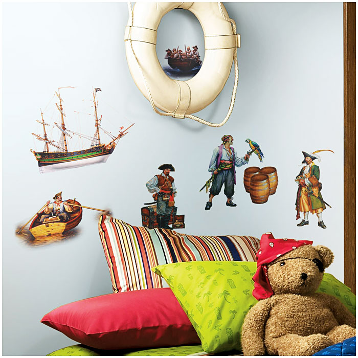 roommates wandsticker wandtattoo piraten kinderzimmer www 4. Black Bedroom Furniture Sets. Home Design Ideas