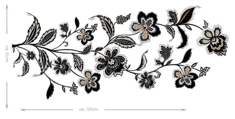 Wandtattoo Silber Blumen : RoomMates Decoline Wandtattoo Wandsticker Blumenranken
