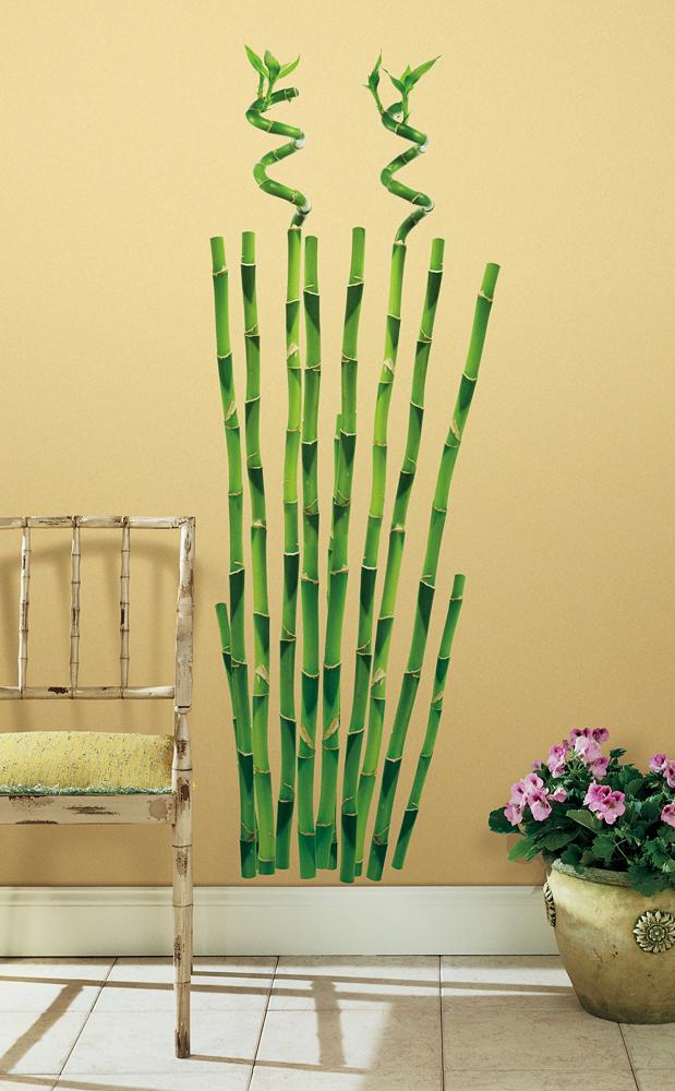 Roommates wandsticker wandtattoo bambus wohnzimmer for Wanddeko bambus