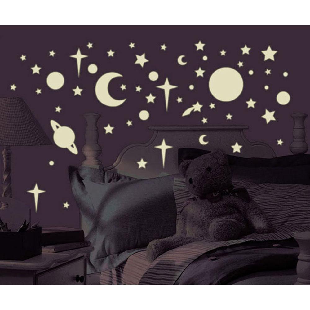wandtattoo kinderzimmer leuchtsterne reuniecollegenoetsele. Black Bedroom Furniture Sets. Home Design Ideas