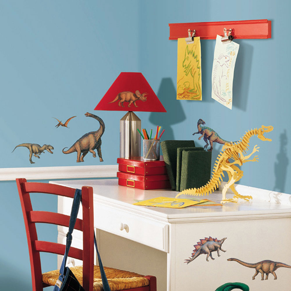 Roommates wandsticker wandtattoo dinosaurier kinderzimmer for Wandsticker kinderzimmer